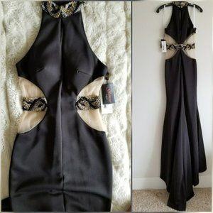 🍒NWT🍒 TERANI COUTURE SEXY BLACK DRESS